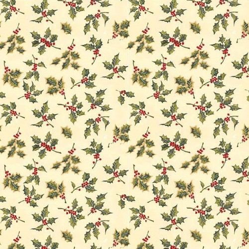 IBM0788 - Wallpaper - Holiday Holly for one-inch (1:12) scale miniature dollhouse or roombox