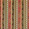 IBM897- Wallpaper - Christmas Holiday Damask for one-inch (1:12) scale miniature settings