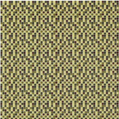 "IBM1596 - Wallpaper - Mosaic Glass Tile - Green (dollhouse miniature, 1"" scale)"