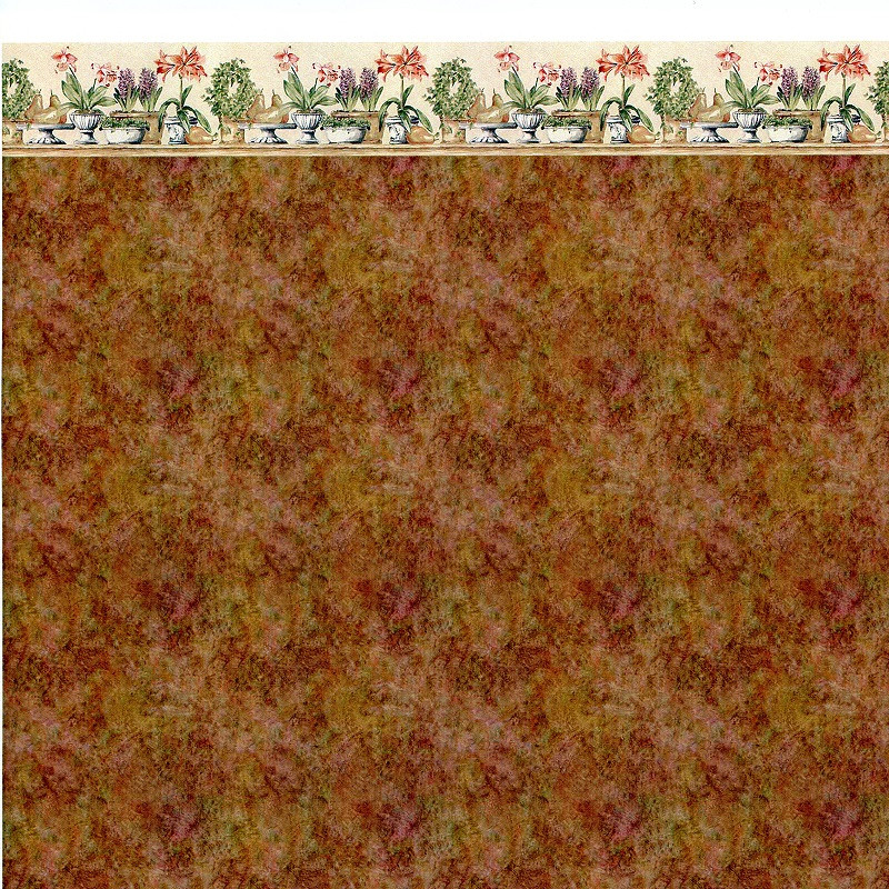Ibm0673a Wallpaper Brown Marble W Plant Border Jeepers