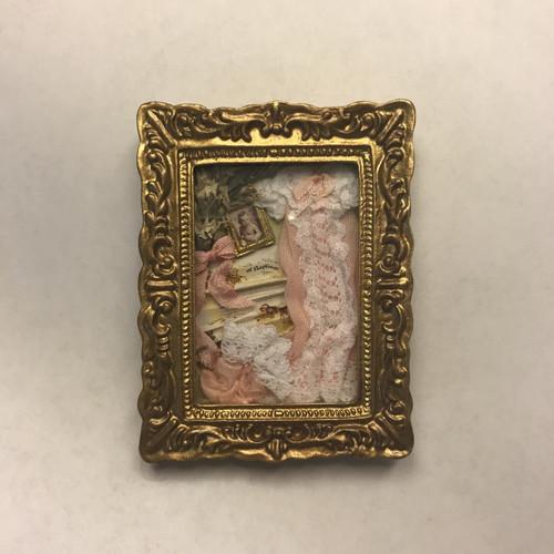 Dollhouse Baby Memory's Ornate Framed Box