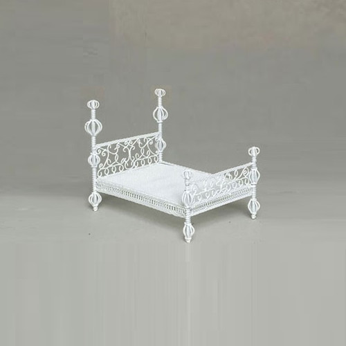 Dollhouse Miniature Scheherazade Bed (AZAL118) (gray background)