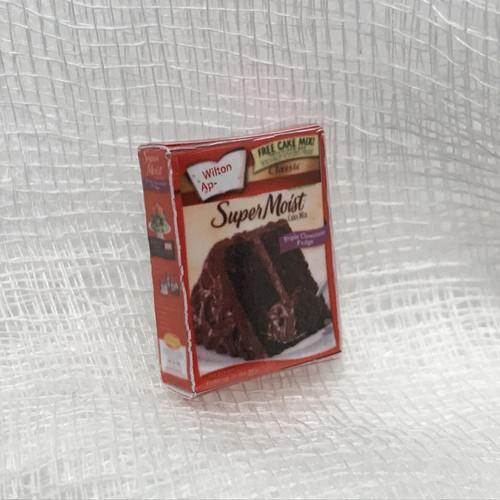 Dollhouse Miniature Chocolate Cake Mix Box (CIMIG130)