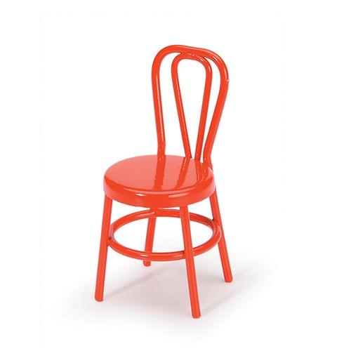 Dollhouse Miniature Red Metal Chair (DAR2300-05)
