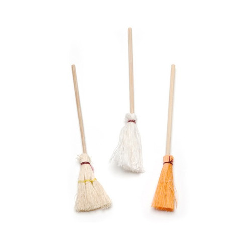 Set of three mops/brooms in one-inch (1:12) scale for your dollhouse