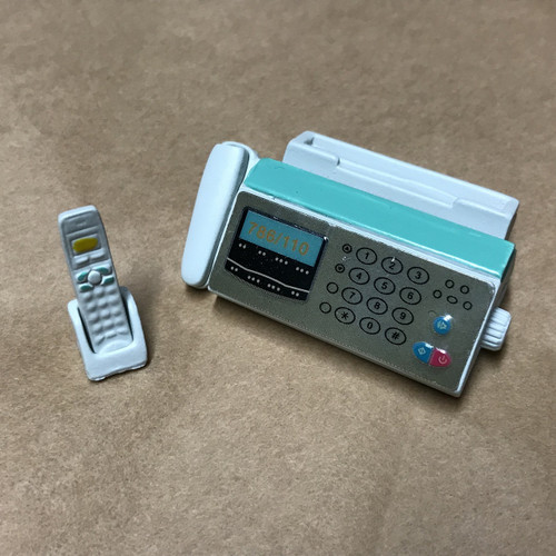 Dollhouse Miniature Telephone and Fax Machine (AZG8054)