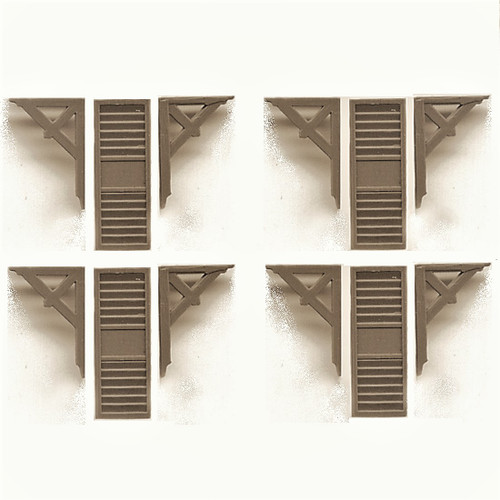 Eave Brackets and Louvered Shutters (GL8016)