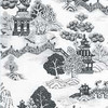 Section of Wallpaper, China Grove Black (MG190D24) Pattern