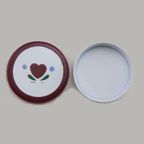 Round Tin, Heart Design (IM65626)
