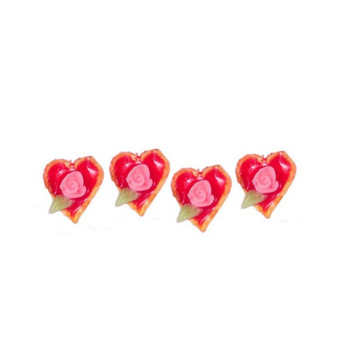 Set of Four Heart Tarts (FCA4031)