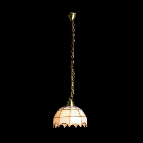 White Tiffany Hanging Lamp (MH600)
