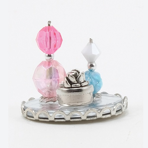 Perfume Tray with 2 Bottles & Powder Box (CB118)