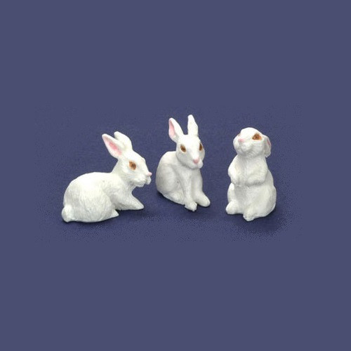 Set of 3 White Rabbits (FCCP7065)