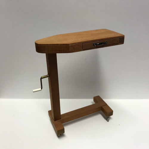 Solid Wood Overbed Table (BL2) in 1:12 scale
