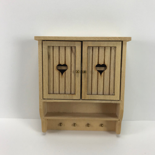 Unfinished Wood Wall Cabinet (J1302) front, doors closed