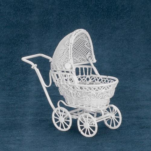 Small Baby Buggy, White (EIWF112)