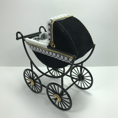 Black and White Baby Pram (DBJ315-3)