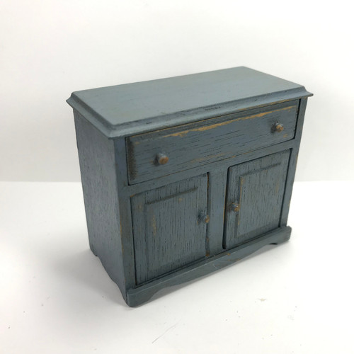 Antiqued Blue Cabinet (DSU0007) top angled view