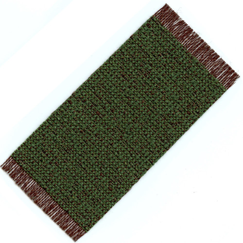 Small Woven Rug, Brown and Green (HWRS417L)