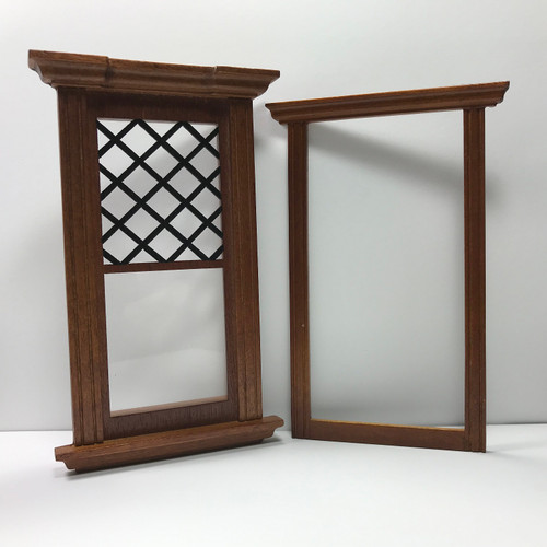 Dollhouse miniature Westfield Single Window (706WND)shown with interior frame