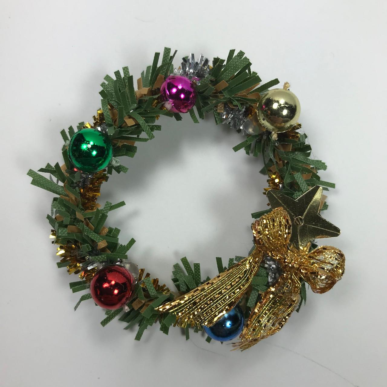 Christmas Dollhouse Miniatures.Sc760t Christmas Wreath