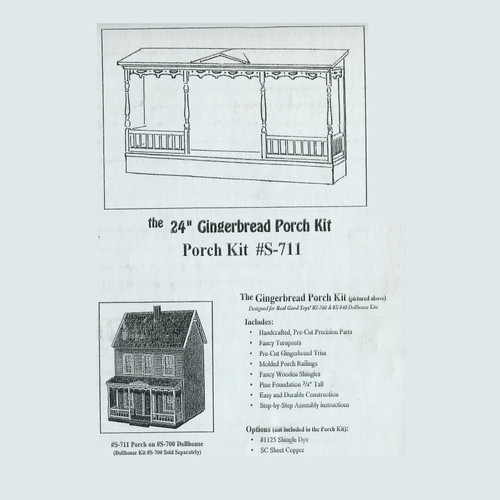 "Image of 24"" Gingerbread Porch Kit (RGTS711) box label"