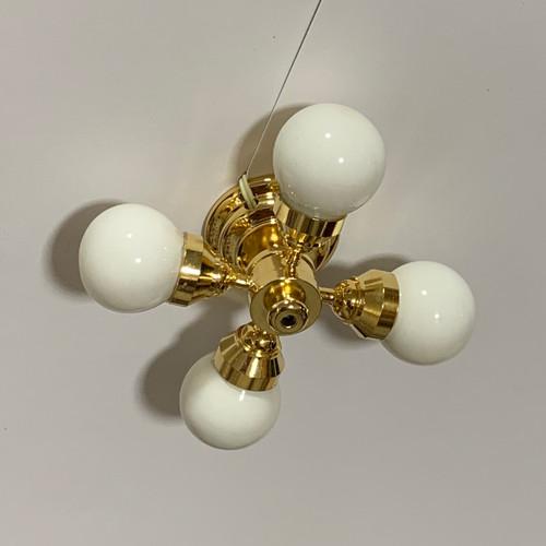 Four-Arm Hugger Ceiling Lamp (CR2SLX-261)