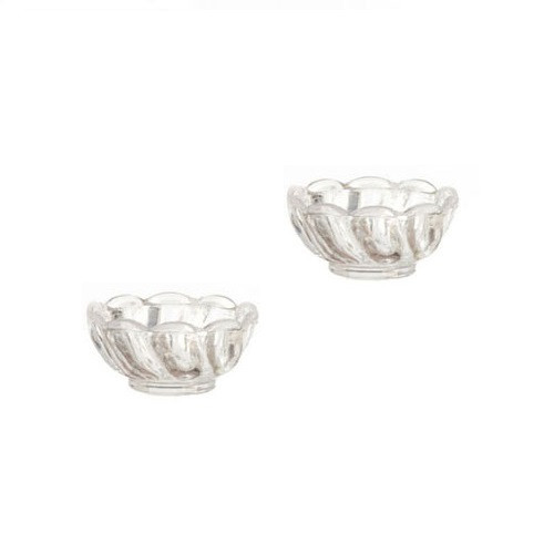 NCRA0411 - Set of Two Crystal Look (plastic) Bowls