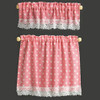 Dollhouse Miniature Pink Nursery Hearts Curtains (BB50414)