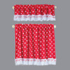 Dollhouse Miniature Red Nursery Hearts Curtains (BB50416)