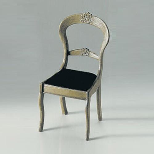 M-510 Victorian Chair Mini Kit (CHR2401) Dollhouse Miniature; shown assembled