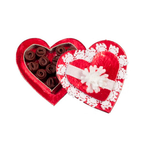 Heart Shaped Candy Box with Candy (AZSH0031)