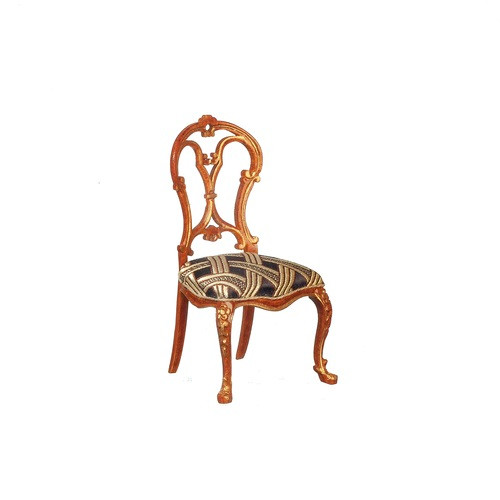 One-inch (1:12) Scale Dollhouse Miniature Louis XV Side Chair (J8002SCWNG)