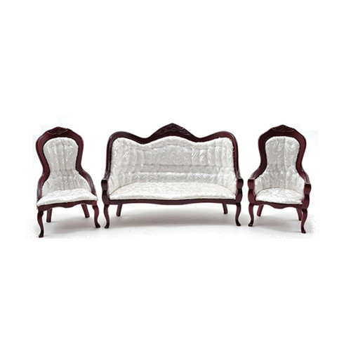 CLA91714 - One-inch (1:12) Scale Dollhouse Miniature Victorian Seating Set (3 pieces)