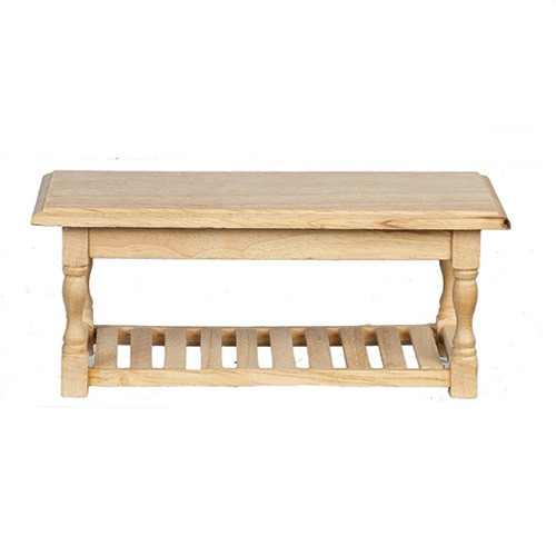 One-inch (1:12) Scale Dollhouse Miniature Unfinished Table (AZT4291)