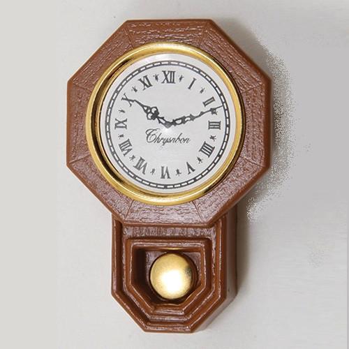 One-inch (1:12) Scale Dollhouse Miniature Railway or School Clock (CB58)