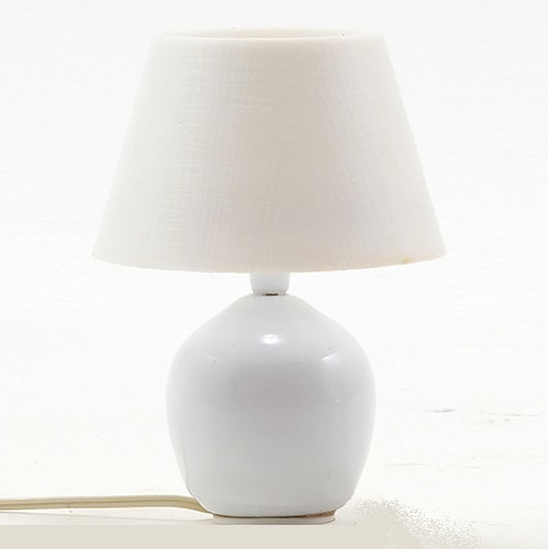 One-inch (1:12) Scale Dollhouse Miniature Glazed Ceramic Table Lamp (MH709) shown unlit
