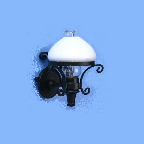 One-Inch (1:12) Scale Dollhouse Miniature Americana Sconce, White Globe (MH1021)