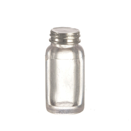 "Image of one medium canning jar with lid for 1"" scale dollhouse miniature; shown with lid on"