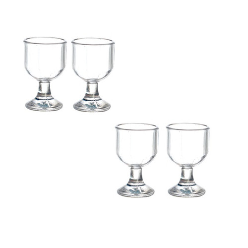 One-inch (1:12) Scale Dollhouse Miniature Set of Four Wine Glasses (AZG8565)