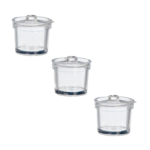 3 Clear Canisters w/Lids (AZG7270)