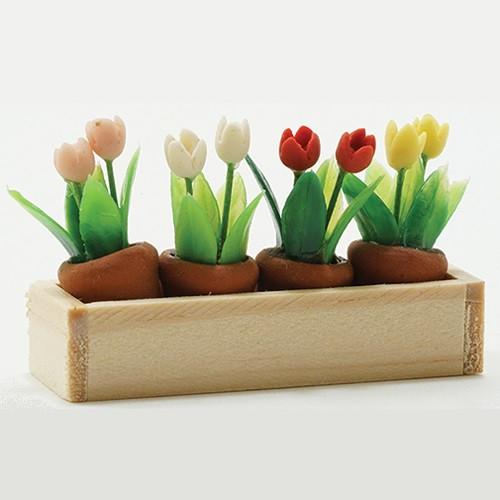 Window Box with Flower Pots (IM69009)