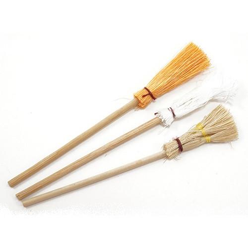Three piece dollhouse miniature Brooms & Mop Set (IM66070)