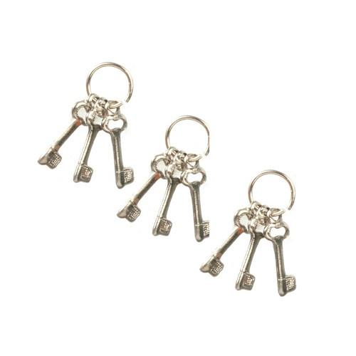 3 Sets of Silver Keys on Rings (HR57060S)