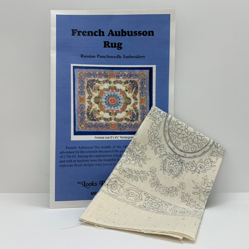 French Aubusson Rug (BNAMR6-F); instructions and silk-screen fabric