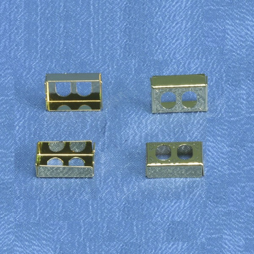Dollhouse Miniature Brass Petite Wall Outlet Cover Plates (MH44001)