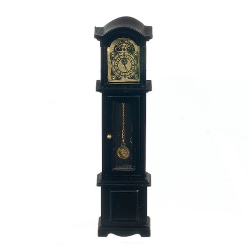 Dollhouse Miniature Grandfather Clock, Black (AZT5817)