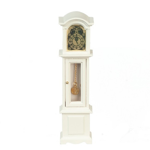 Dollhouse Miniature Grandfather Clock, White (AZT5317)