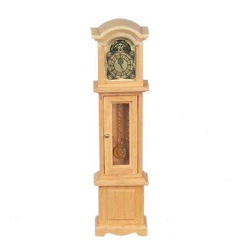 Dollhouse Miniature Grandfather Clock, Oak (AZT4317)