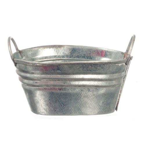 Small Oval Wash Tub (AZG8112) Dollhouse Miniature
